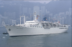 Sold to C.N.Co. in June 1970. She was converted for cruising by Taikoo Dockyard, Hong Kong (c) john Swire & Sons, Ltd