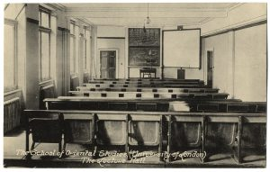 Lecture Hall, Finsbury Circus, School of Oriental and African Studies, pre-1935. Ref: SOAS/SPA/1/17. © SOAS