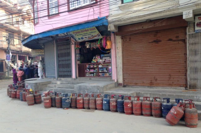 The September 2015 blockade at Nepal's southern border led to widespread fuel shortages and a spike in gas and petrol prices across the country.