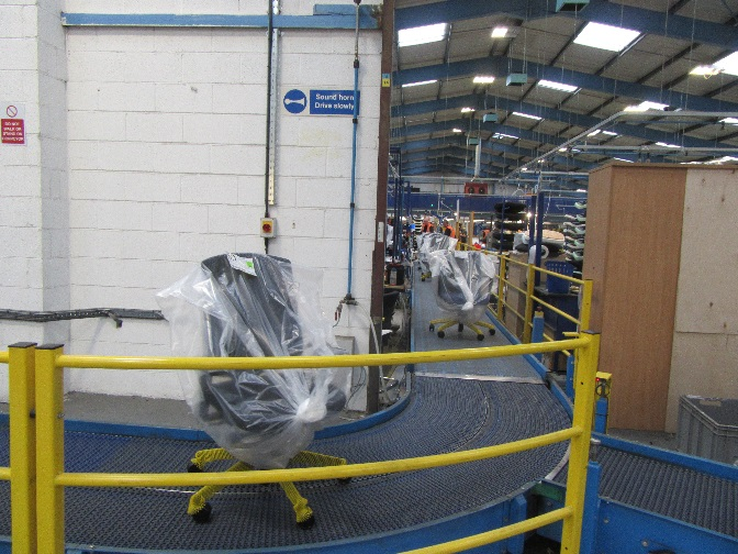 The same style of chairs coming off this assembly line will be going into our offices in North Block.