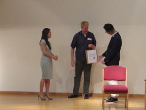 London-Cheryl Toh of SHC presenting token to Prof Berry (2)