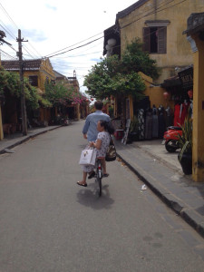 Henry and passenger, Hoi An